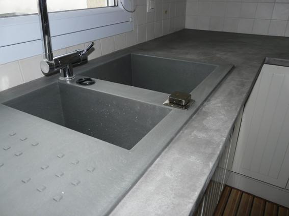 Tsp mortex b ton cir - Plan de travail imitation beton cire ...